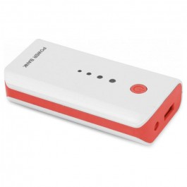 Внешний аккумулятор (Power Bank) Esperanza Powerbank 5200 mAh White-Red (EMP104WR)
